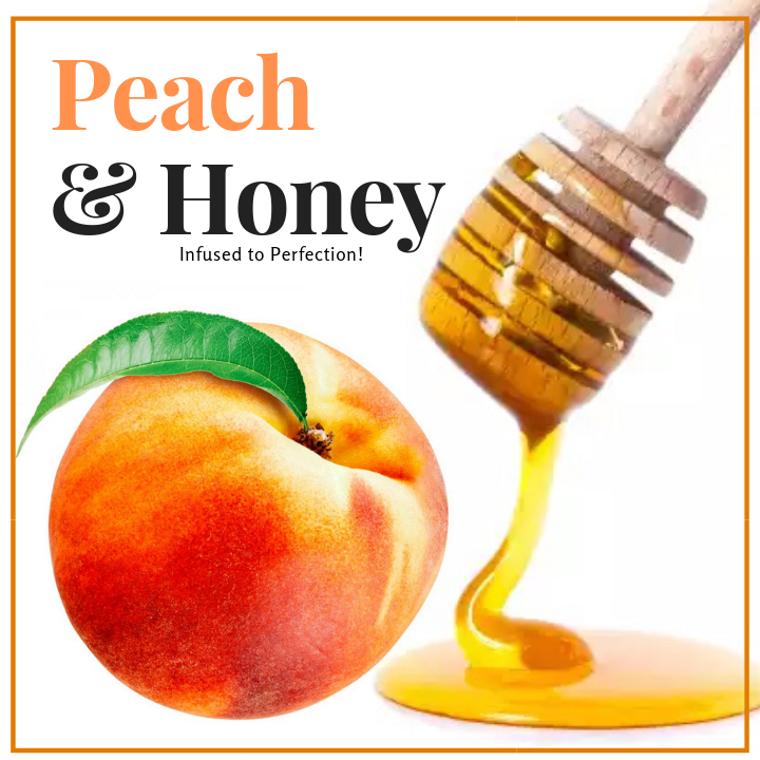 1 LB Peach Infused Honey