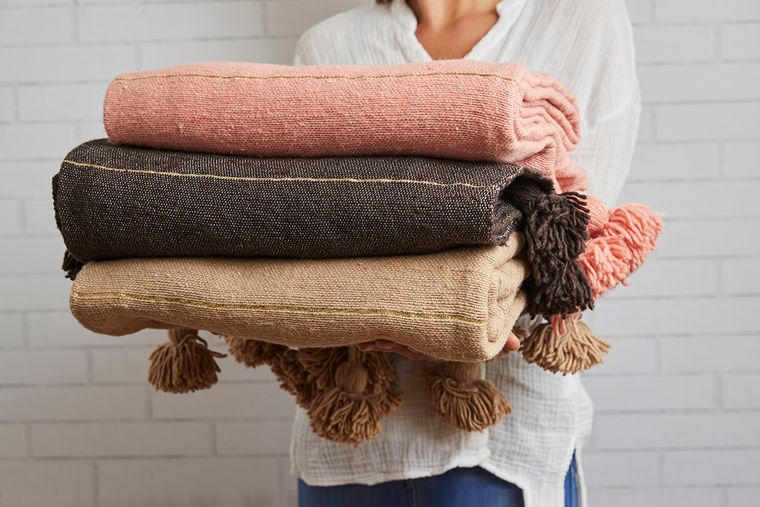 Moroccan Tasseled Blankets