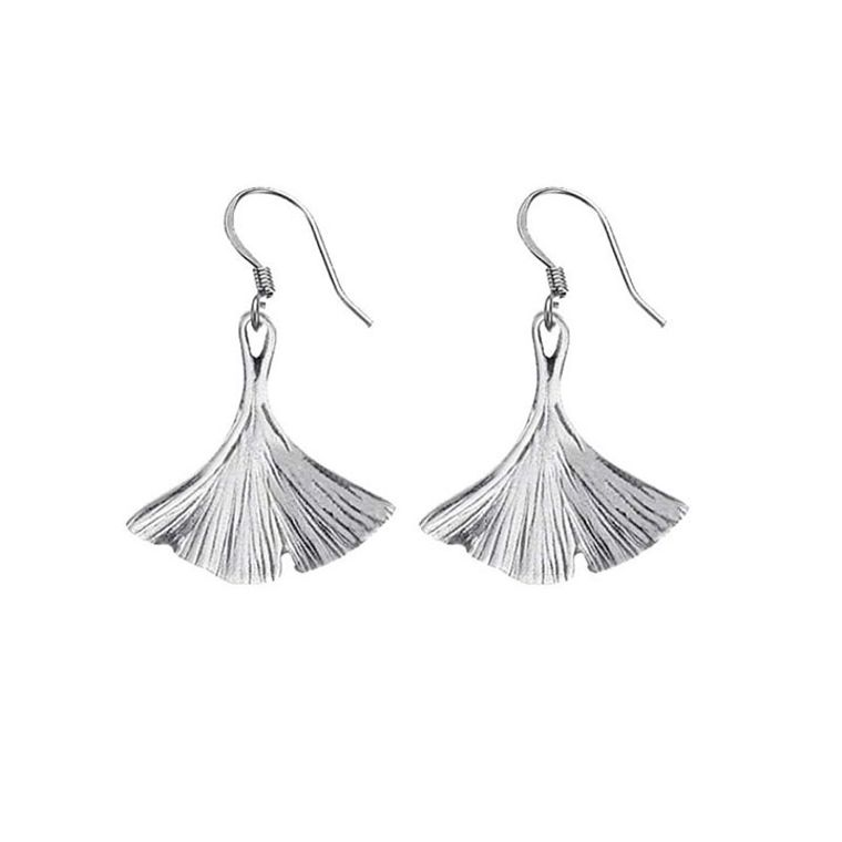 Ginkgo Leaf Wire Earrings
