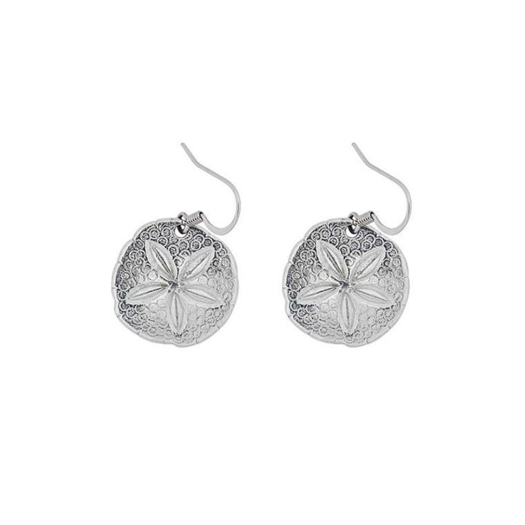 Sand Dollar Wire Earrings