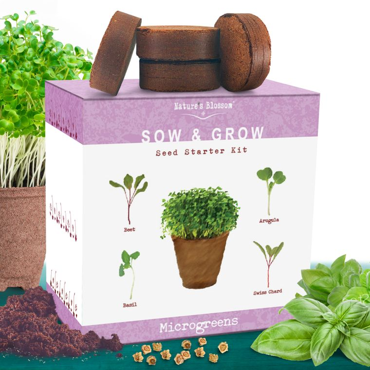 Nature's Blossom Microgreens Growing Kit