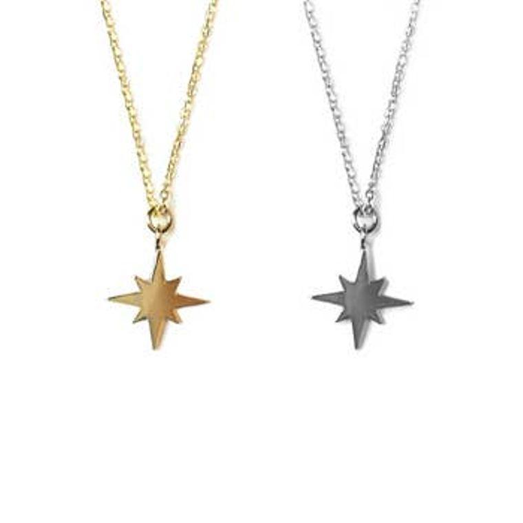 Golden Mini Charm Necklaces - Star