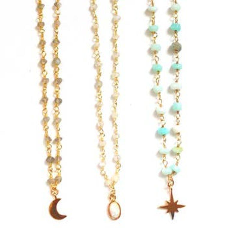 Charm Choker Necklaces - Mint Starburst