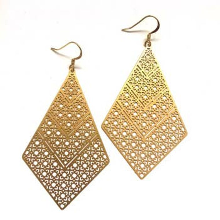 Gold Treillis Earrings