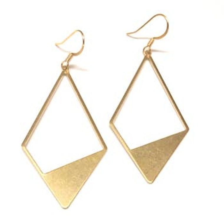 Geo Metal Earrings Gold Kite