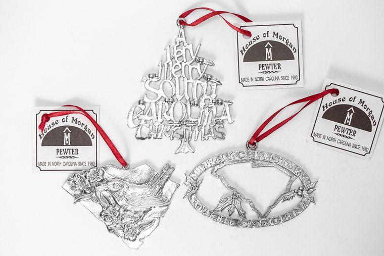 USA Handcrafted South Carolina SC Welcome Home Christmas Ornament Holiday Keepsake Gift Set