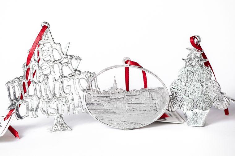 USA Handcrafted North Carolina NC Wilmington ILM Christmas Ornament Holiday Keepsake Gift Set