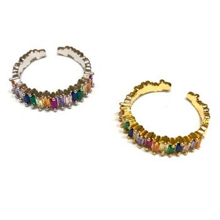 Adjustable Rainbow Rings Gold