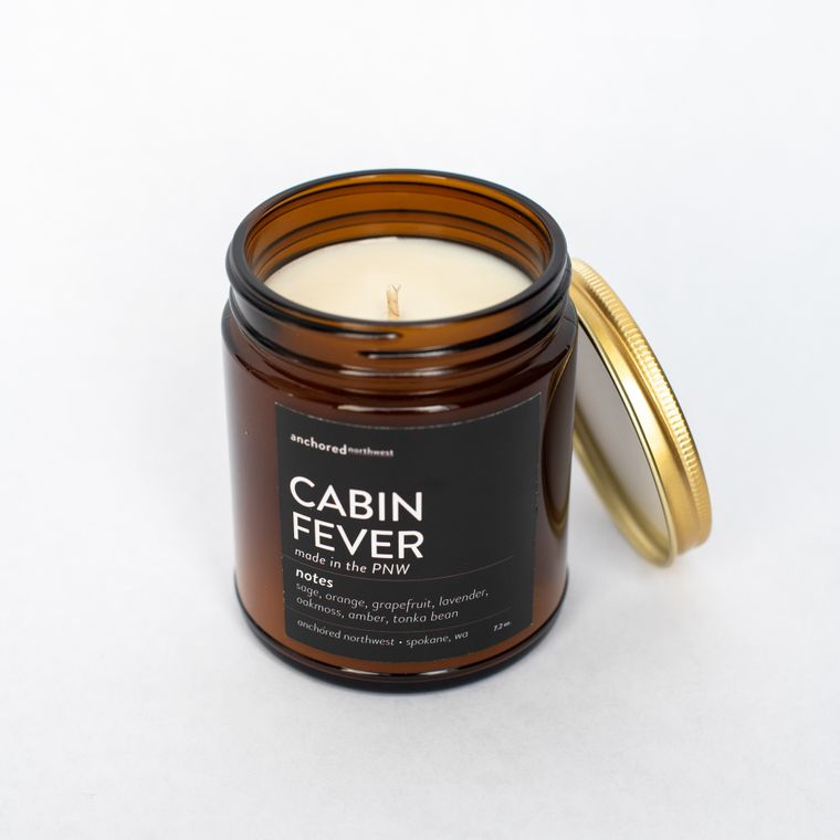 Cabin Fever - Amber Jar w/ Cotton Wick