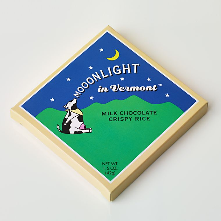 Mooonlight in Vermont Chocolate Bar - Milk Chocolate Crispy Rice