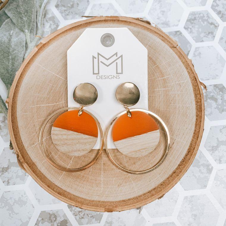 Tina Earring-Orange