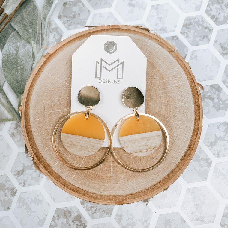 Tina Earring-Mustard