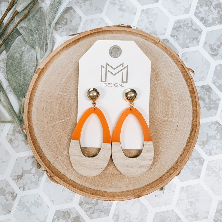 Ingrid Earring-Orange