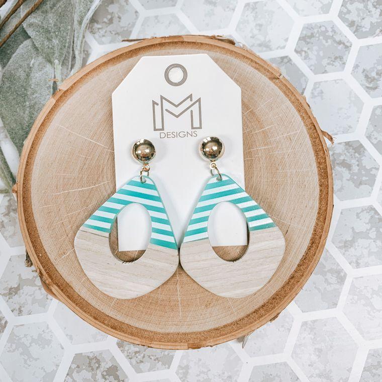 Heidi Earrings-Blue/White