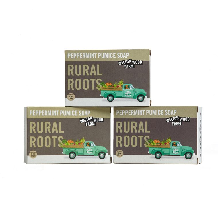 Rural Roots -Peppermint Pumice Soap 8 oz