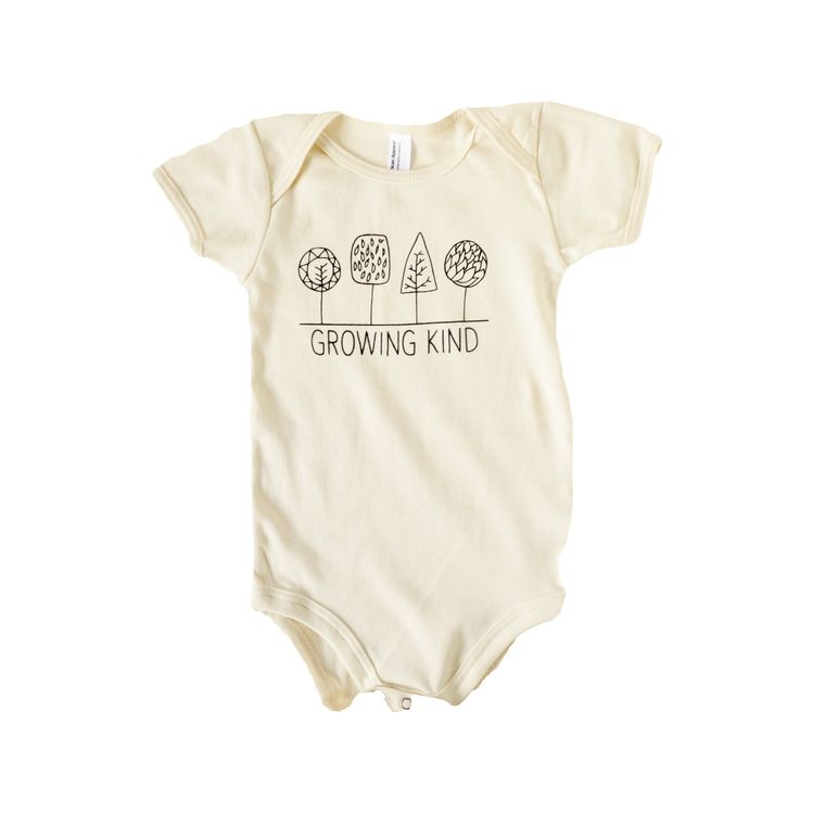 Growing Kind Infant Onesie (in Natural White)