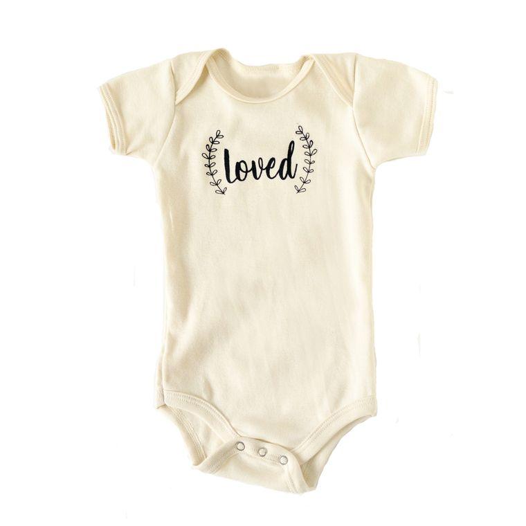 Loved Infant Onesie (in Natural White)