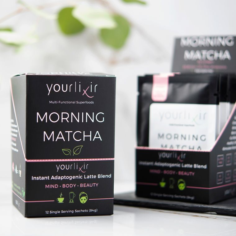 Collagen & Probiotic Matcha Latte Sachets (12 per box)