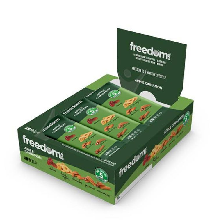 Freedom Bar Apple Cinnamon Case (15 Bars x 6 Boxes = 90 Bars Total)