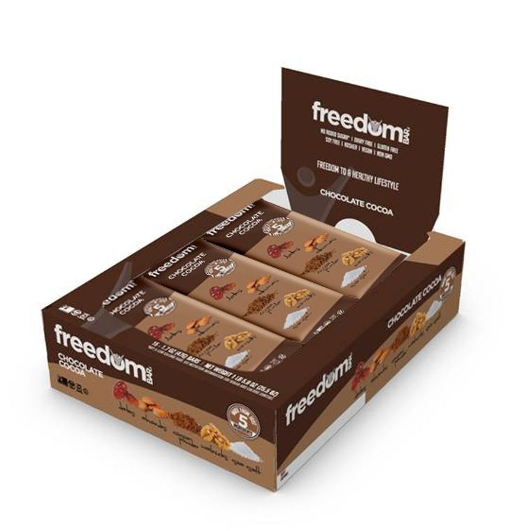 Freedom Bar Chocolate Cocoa Case (15 Bars x 6 Boxes = 90 Bars Total)