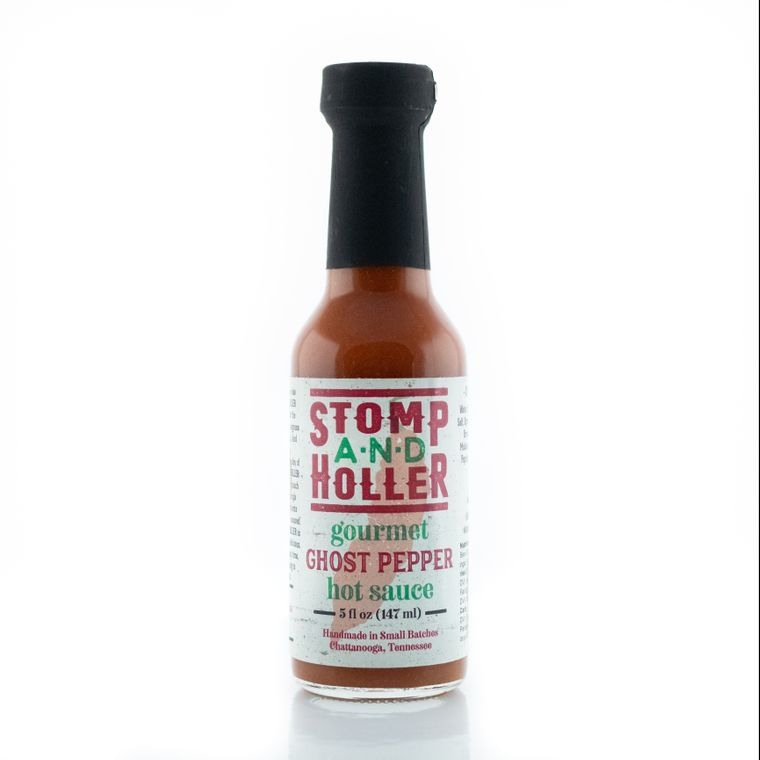 Stomp and Holler Gourmet Ghost Pepper Hot Sauce