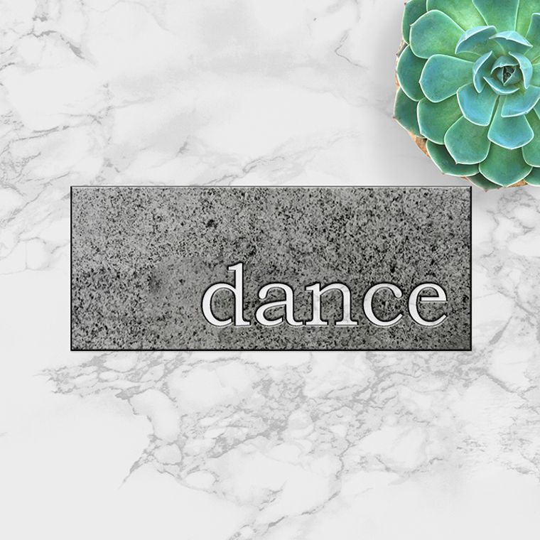 dance Metal Plaque