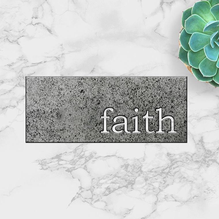 faith Metal Plaque