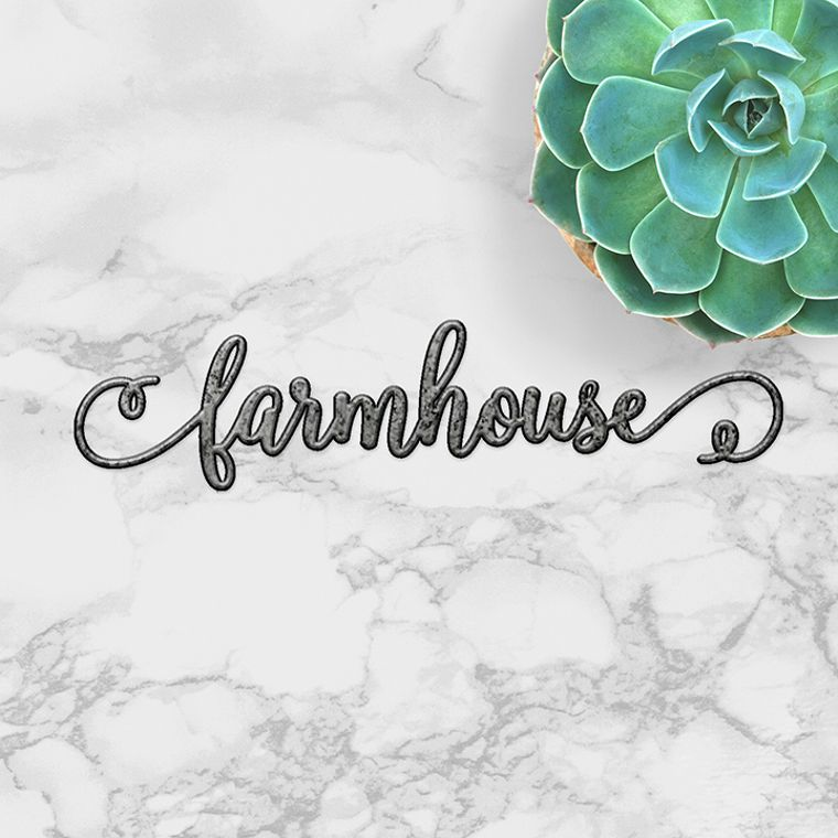 farmhouse swirl - word