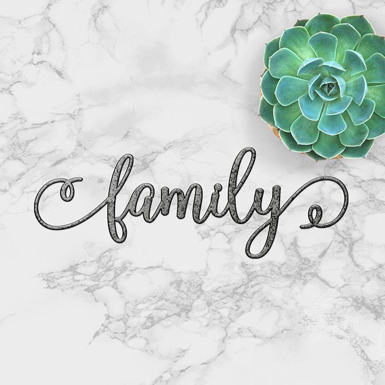 family swirl - word