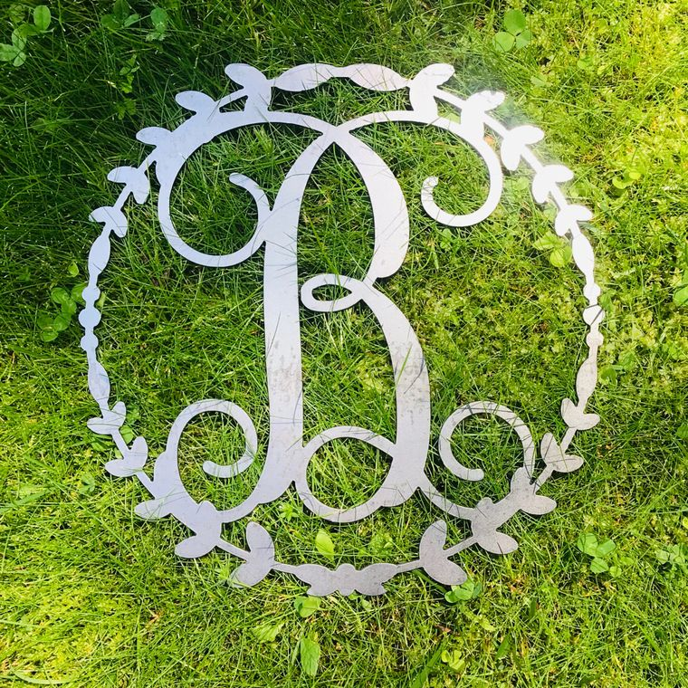 Wreath Vine Letters- Metal
