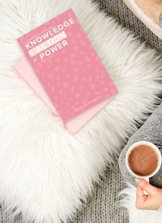 Knowledge + Action = Power - Productivity Notepad