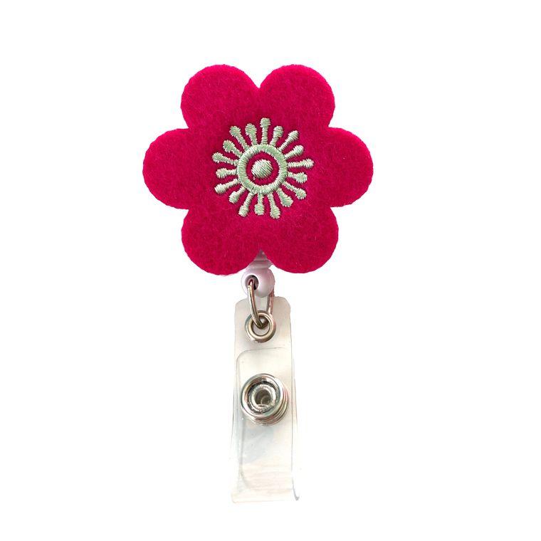 Flower Badge Reel Holder