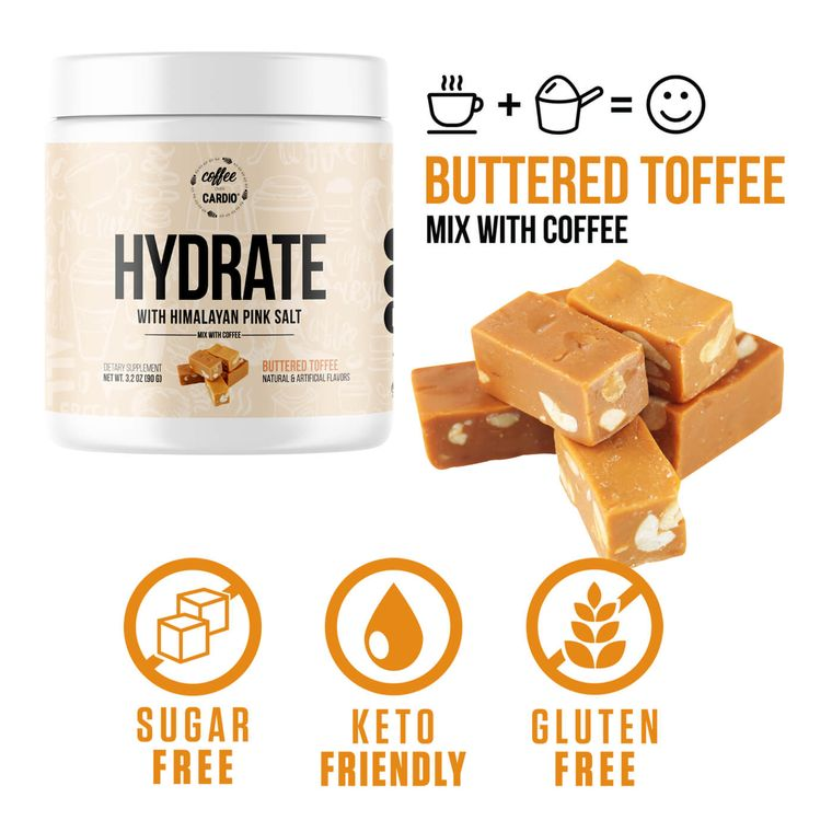 Hydrate- Electrolyte for Coffee- Buttered Toffee