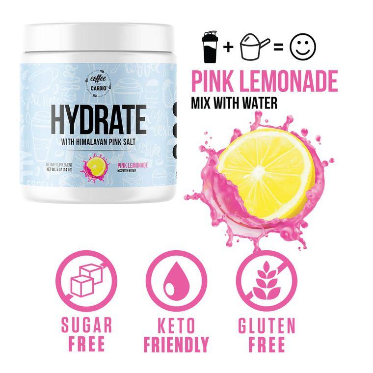 Hydrate- Electrolyte for Water-  Pink Lemonade
