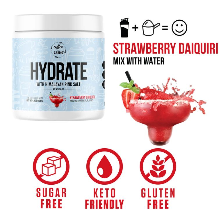 Hydrate- Electrolyte for Water-  Strawberry Daiquiri