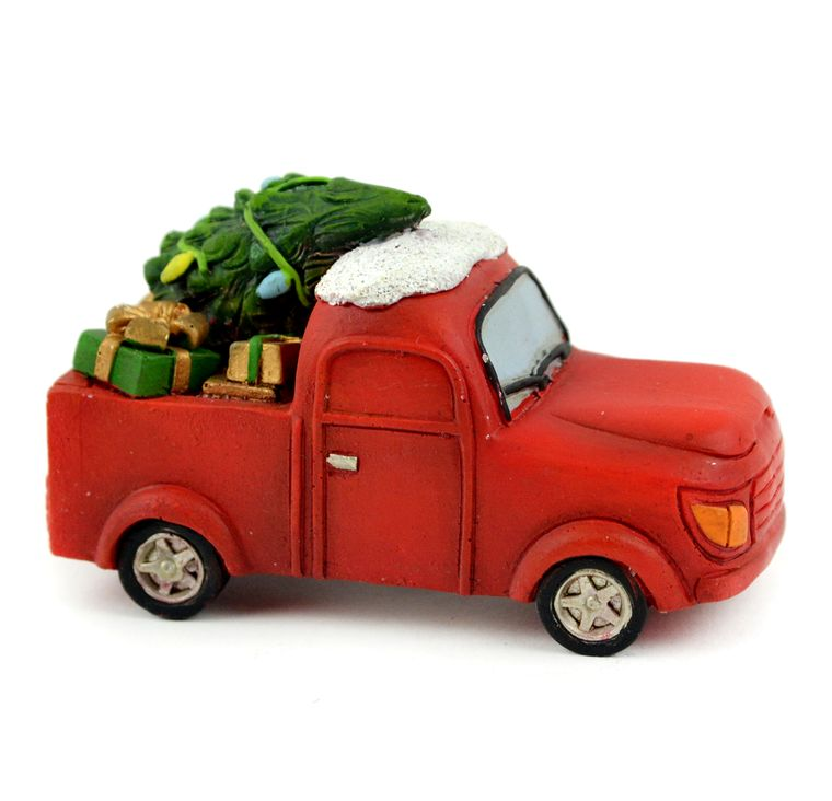 "3.5"" Christmas Red Truck"