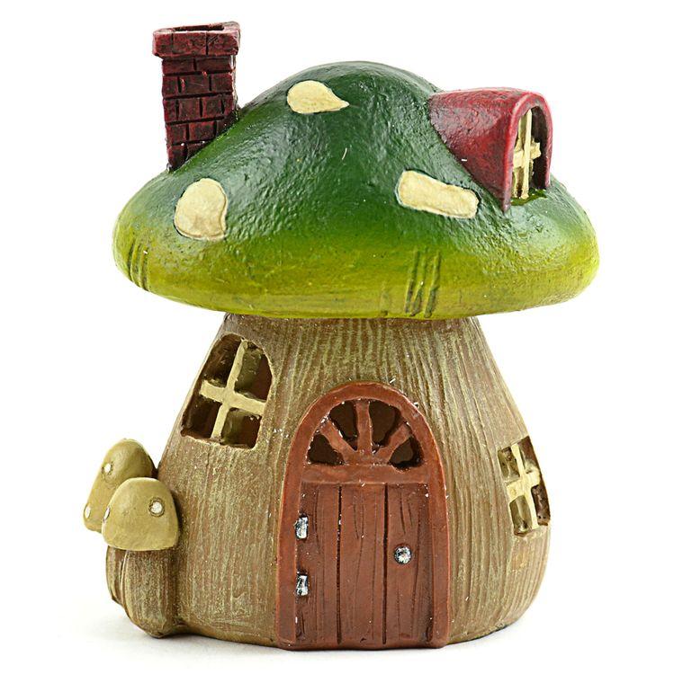"4"" Light Up Mushroom House"