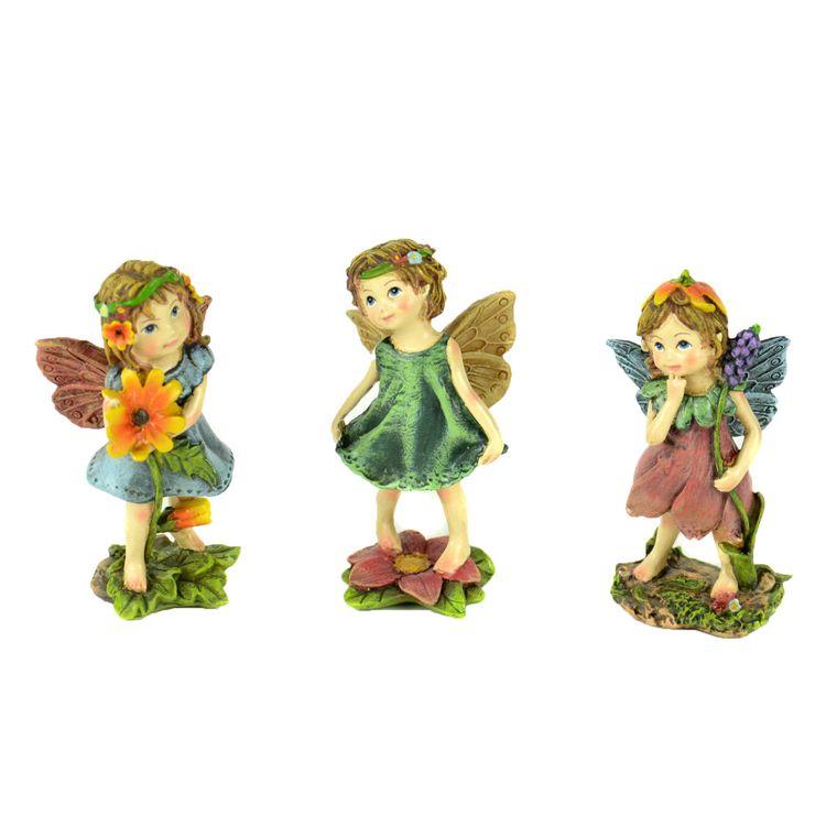 """3"""" Standing Flower Miniature Girl Assortment"""