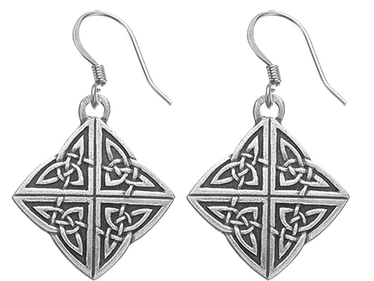 Celtic Knot Wire Earrings