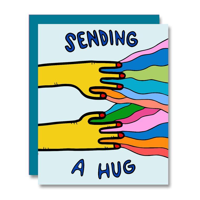 Sending A Hug, Yellow Hands, Interactive Card