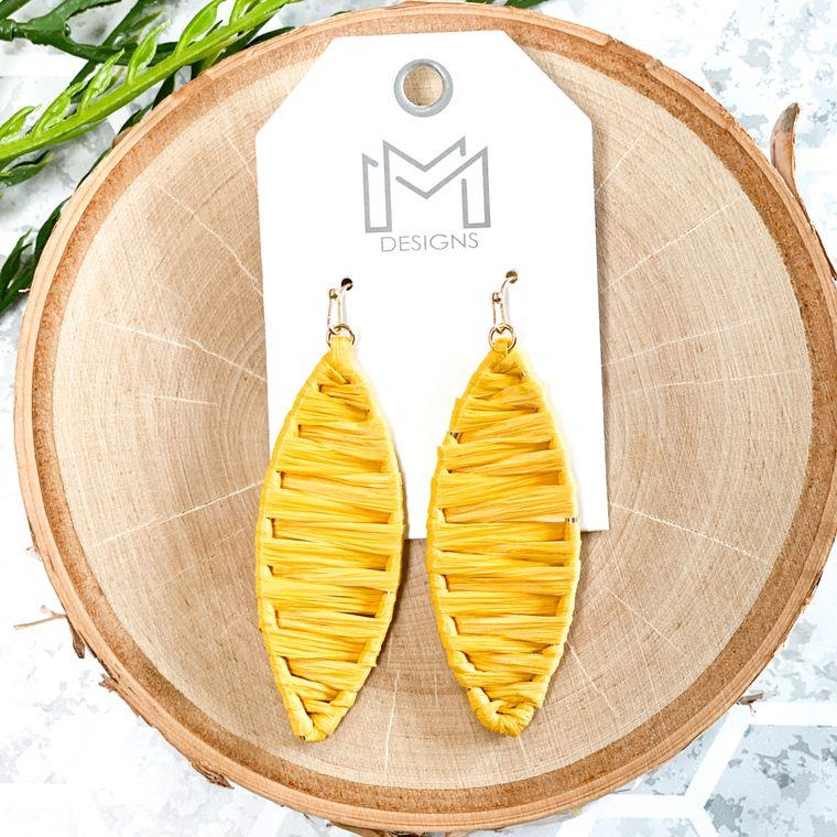 Jolie Earrings - Mustard