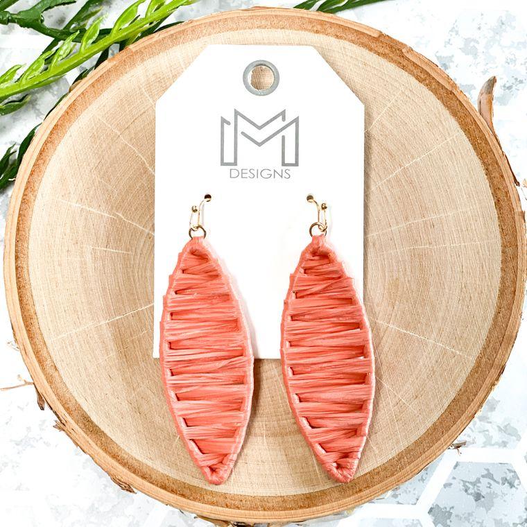 Jolie Earrings - Peach