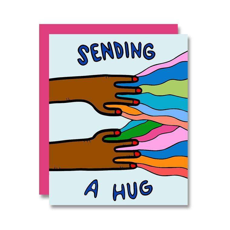 Sending A Hug, Brown Hands, Interactive Card