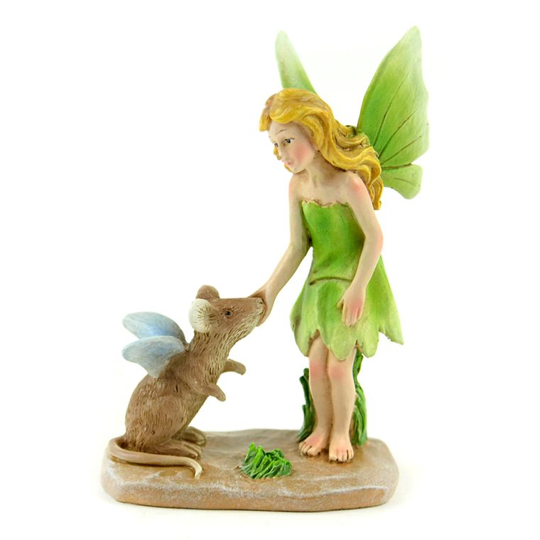 "3.25"" Green Miniature with Mouse Miniature"
