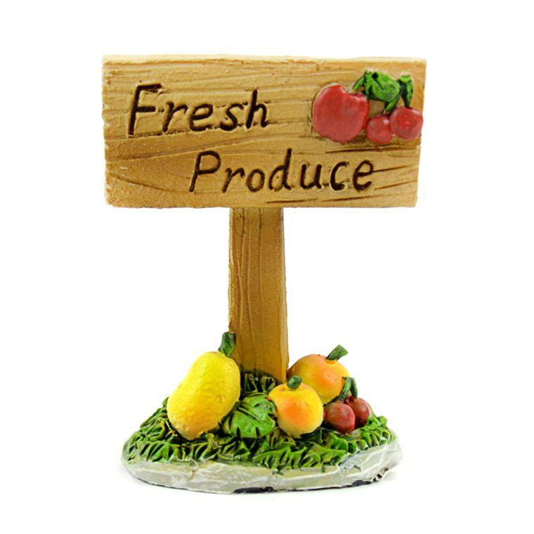 "2.5"" 'Fresh Produce' Sign"