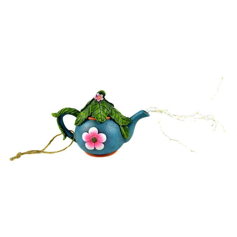 "5.5"" LED Blue Tea Pot Hanger"