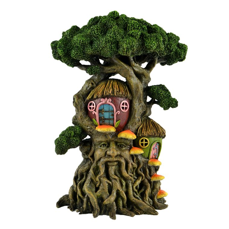 "17"" Tree with a Face and Tree House"