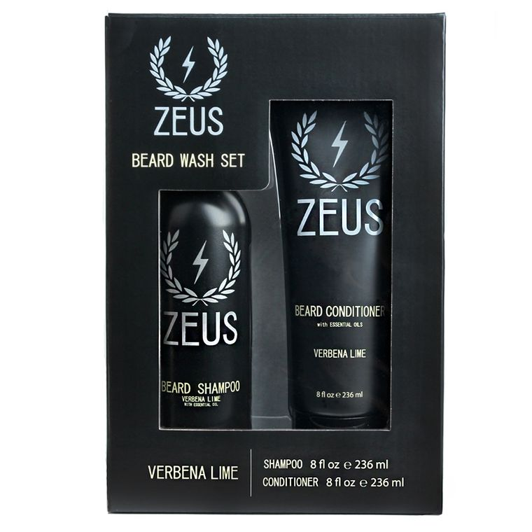 Zeus Beard Shampoo and Conditioner Set, Verbena Lime