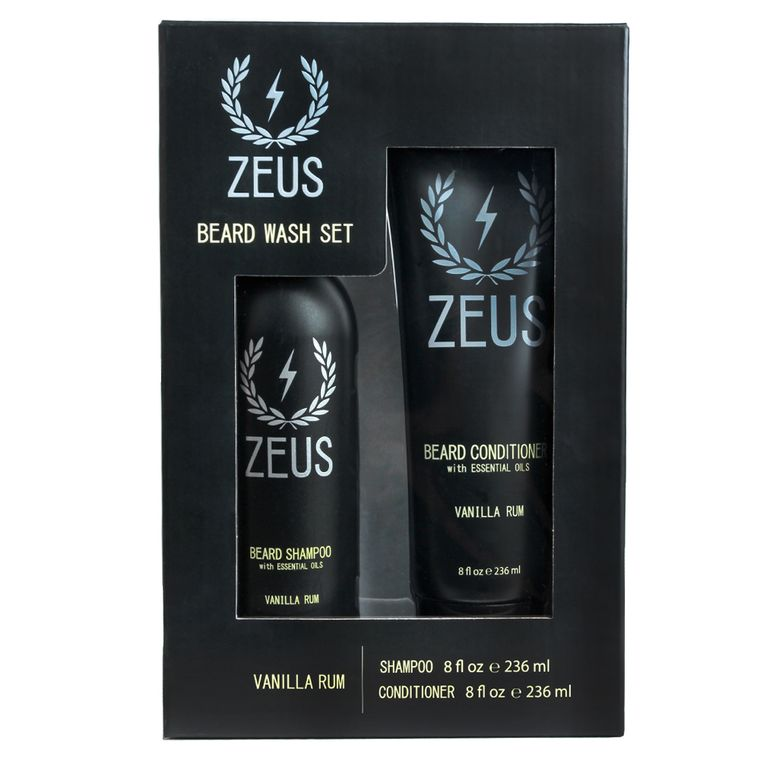 Zeus Beard Shampoo and Conditioner Set, Vanilla Rum