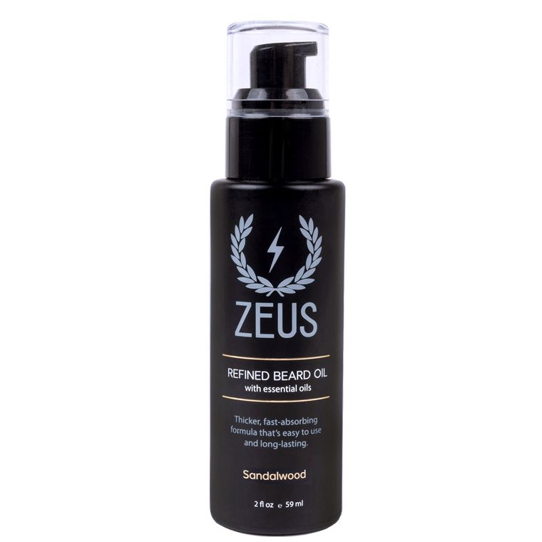 Zeus Refined Beard Oil, Natural Sandalwood